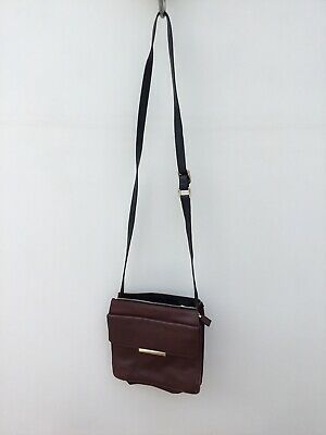 M&S Autograph Brown Messenger Cross Body Bag • 5£