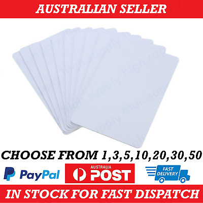 AU9.99 • Buy 1-50 NTAG215 NFC White Pvc Card Tag For TagMo Forum Switch Type2 Tags Chip