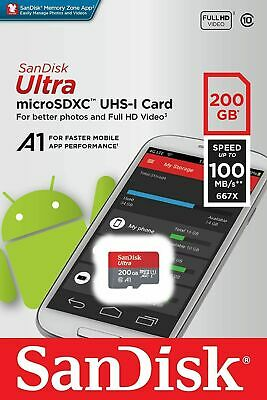 AU42.98 • Buy SanDisk Ultra 200GB Micro SD Card SDXC A1 UHS-I 100MB/s Mobile Phone TF Memory C