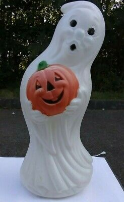 $ CDN59.45 • Buy Vintage Halloween Blow Mold Ghost With Pumpkin Lighted Plastic Approx 40 In