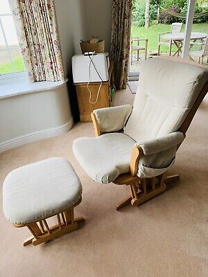 Dutailier Glider Cream Nursing Maternity Rocking Chair And Footstool • 4.99£