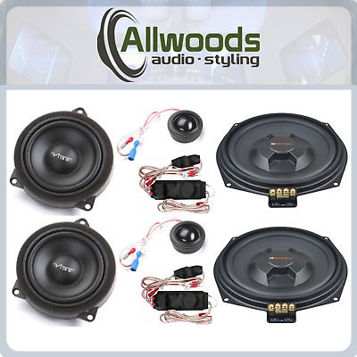 BMW Speaker Upgrade Match And Vibe 3 Way Speaker Set Plug And Play 1 Series E88 • 330£
