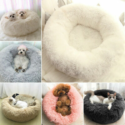 Dog Cat Pet Calming Bed Beds Large Mat Comfy Puppy Washable Fluffy Plush Cushion • 24.58£