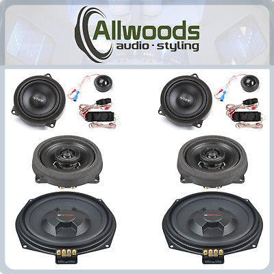 BMW Speaker Upgrade Vibe And Match Front And Rear Plug And Play Set 3 Series F30 • 415£