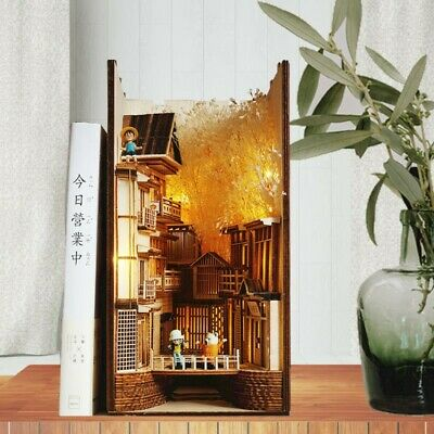 Chinese Village Alley Book Nook - Book Shelf Insert - Bookcase With Light Model  • 142.58£
