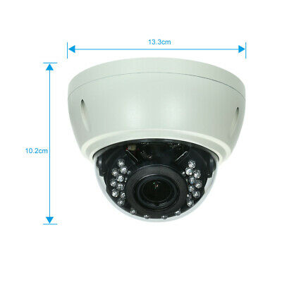 5MP Dome POE IP Camera Explosion-proof 2.8-12mm 4X Zoom H.265/H.264 IR-CUT J1G3 • 41.39£