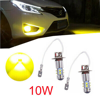 AU26.99 • Buy 2x H3 LED Fog Light Bulbs Replace Lamp 3000k Yellow 10W High Power Warranty AU