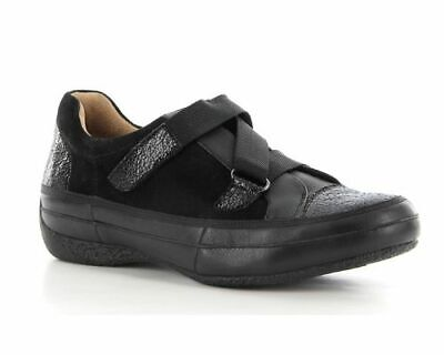 AU164 • Buy New ZIERA - 40XW SYLVIA Black Orthotic Travel Suede Wide Flat Shoes SN 9 Nurse
