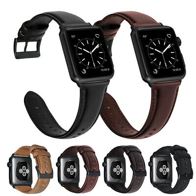$ CDN13.04 • Buy For Apple Watch Leather Strap IWatch Band Series 6 5 4 3 2 1 SE 38 40 42 44 Mm