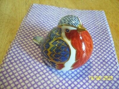 Royal Crown Derby Paperweight... Robin   With Gold  Stopper...  But No Box.. • 25.35£