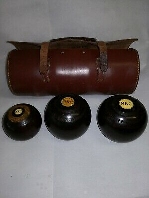 Vintage Set Of Bowling Green Bowls With Jack And Bag Crown Green  • 20£