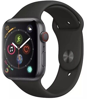 $ CDN363.07 • Buy Apple Watch Series 4 44 Mm Space Gray Case With Black Sport Band GPS + Cellular✅