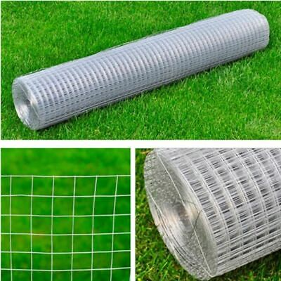 Chicken Pet Welded Wire Mesh Fencing Panel 10m 25m Galvanised Steel Silver New • 30.14£