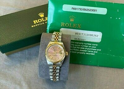 $ CDN3369.70 • Buy Rolex Fluted Bezel Oyster Perpetual Datejust Chronometer Ladies Two-Tone Watch