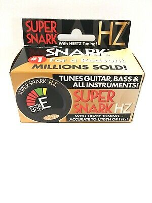 $ CDN41.65 • Buy Snark Super Snark HZ Clip-On Tuner Black For Acoustic Or Electric Guitar