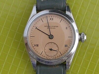 $ CDN1162.88 • Buy Rolex Oyster  Royal  Stainless Steel Vintage Wristwatch Circa 1942 Pink Dial!!