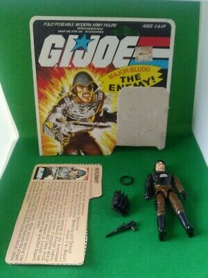 $ CDN39.99 • Buy Gi Joe 1983 Major Bludd 100% Complete With Filecard