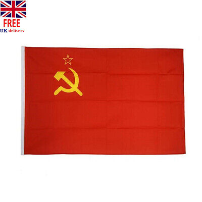USSR Soviet Union Communist Russian -Socialists Red National-Beauty-Flags #BZ2 • 5.38£