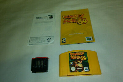 AU155 • Buy Donkey Kong 64 + Expansion Pak + Manuals - Nintendo 64 (Other Games Avaialable)