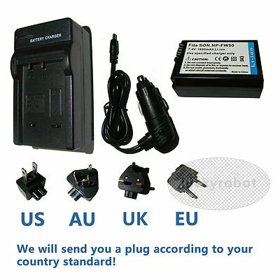 £13.15 • Buy NP-FW50 Battery+charger For SONY Alpha A5000,A6000,A6500,NEX-3,a7s,a7s Ii A6100