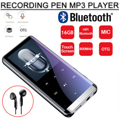 Music Player 16GB MP3/MP4 Bluetooth Lossless Sound Portable FM Radio Voice UK • 19.98£