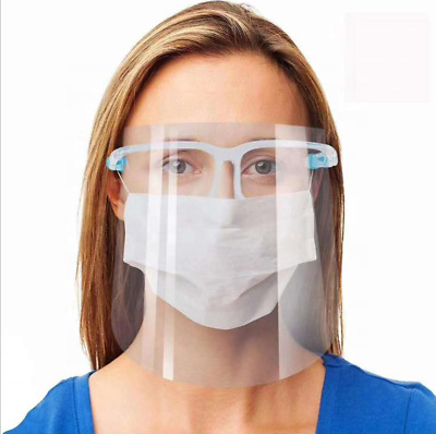 Face Shield Full Face Visor Protection Mask Shield Clear Safety Transparent PPE • 3.09£