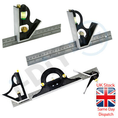 Rolson Combination Set Square Stainless Steel Ruler • 4.99£