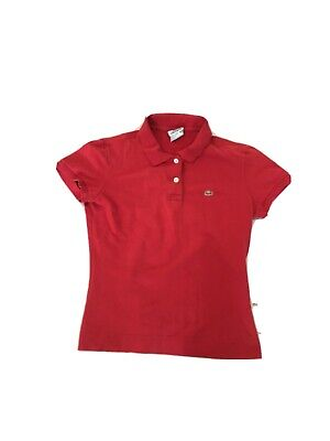 Womens Lacoste Polo Shirt Red Size Small • 5£