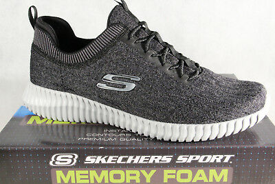 Skechers Elite-Flex Slippers Sneakers Low Shoes Black Gray 52642 New • 74.29£