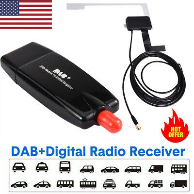 Car Digital DAB+Adapter Tuner Audio Radio Box USB Receiver Antenna For Android • 20.93£
