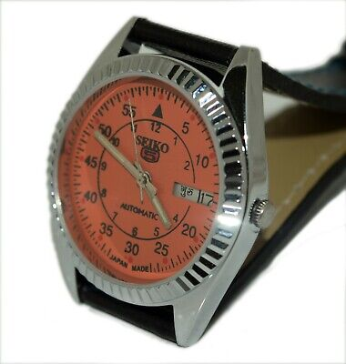 $ CDN31.55 • Buy Orange Dial Rare Vintage Seiko Hand Winding Mens Steel Wrist Watch Run