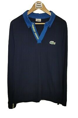 Lacoste Size 5 Large Brazil Croc Special Edition L/Sleeve Mesh Polo Shirt 24.5in • 30£