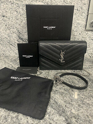AU770 • Buy YSL Saint Laurent Envelope Chain Wallet Bag