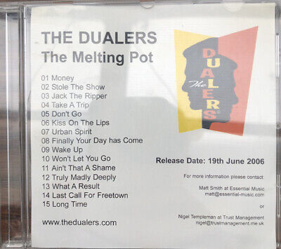 The Dualers CD - The Melting Pot - Rare Promotional CD • 30£