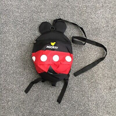Mickey Mouse Toddler Safety Backpack Bag With Reins Little Life Style  • 6.99£