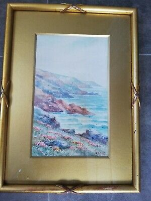 Painting Of St Ives By Thomas Herbert Victor / W Sands Has Writing On The Back • 32.99£
