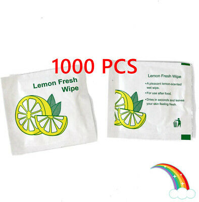 £39.99 • Buy Rainbow Outlet - 1000 X Lemon Fresh Small Wet Hand Wipes Cold Individually Wrap