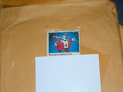 $25 • Buy Vintage Red Baron Mailbox Plan  3 Sheets Sold As Is As Shown