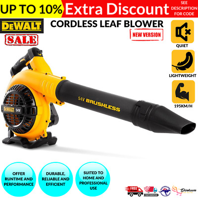 AU193.02 • Buy 54V Cordless Leaf Blower Li-ion Battery Variable Control Garden Commercial Tool