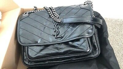 AU2587 • Buy YSL Saint Laurent Niki Medium Bag Brand New Black
