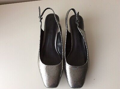 Ladies Footglove Slingback Shoes - Pewter - Size 8 • 7£