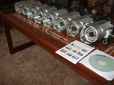 Tenvis IP602w Network Cameras X 8 Used Working Excellent Condition. Job Lot. • 200£