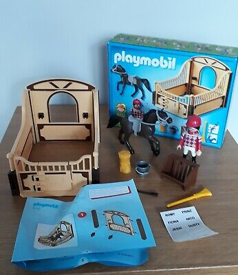 Playmobil Set 5112 Country Race Horse With Stall • 3£