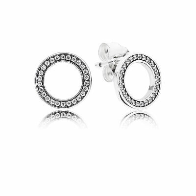 AU50.14 • Buy PANDORA EARRINGS Sterling Silver ALE S925  FOREVER STUDS  290585CZ