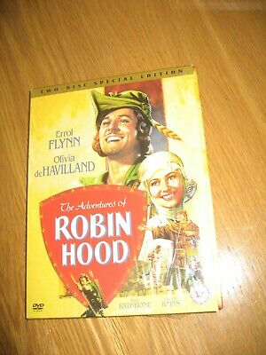 The Adventures Of Robin Hood (DVD 2-Disc Set) Errol Flynn -Olivia De Havilland • 4£