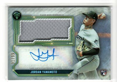 $ CDN1.31 • Buy 2020 Triple Threads JORDAN YAMAMOTO Jumbo Relic Auto Rookie RC /99 Miami Marlins