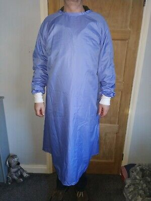 Unisex Medical Surgical Gown Hospital Reusable Washable Cromptons Healthcare MIP • 18£