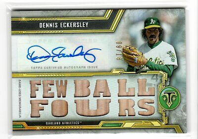 $ CDN17.84 • Buy 2020 Triple Threads DENNIS ECKERSLEY Game-Used Relic Auto /18 Athletics A's HOF