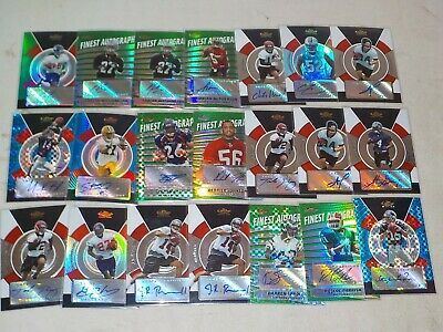 $ CDN13.20 • Buy 2005 Topps Finest Football Auto Lot Of 21 Cards W/ Sproles RC #d, Jacobs #d A8