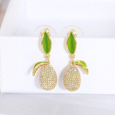 $ CDN29.33 • Buy Kate Spade Pineapple Green Crystal Stud Drop Dangle Holiday Earrings W/ Gift Box